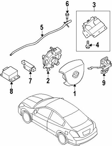 25567-EB60A NEW ClockSpring Spiral Cable for Nissan Pathfinder R51M