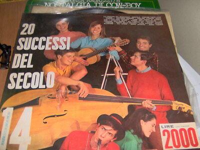 "LP 12"" 20 SUCCESSI DEL SECOLO SERIE NIAGARA N.14 ORCH. TEENAGERS M.BATTAINI"