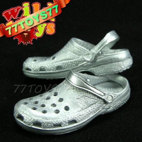 Wild Toys 1/6 Clogs_ Silver_ Sandel Fashion Shoes ACI WT006L