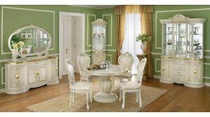 wohnzimmer esszimmer speisezimmer komplett set beige gold italienische m bel. Black Bedroom Furniture Sets. Home Design Ideas