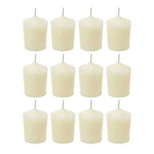 Mega Candles Unscented 15 Hours Votive Candles Set of 12 CGA067-I Ivory