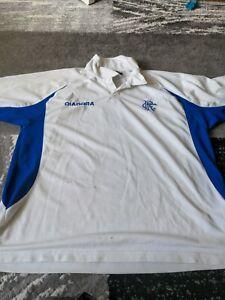 Glasgow Rangers Football Shirt Diadora Large Mens Polo Top