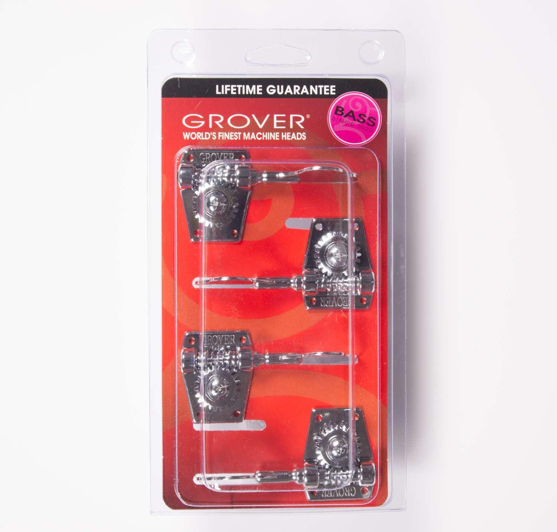 Afinadores Grover 142C4 Vintage Vintage Vintage Bass 4 en línea-Cromo 78775c