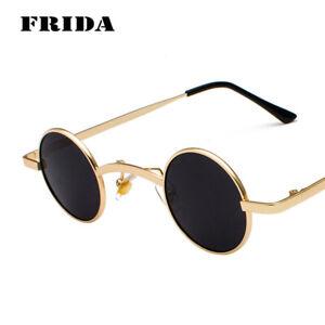 f2ee9e812442 Image is loading FRIDA-Women-SteamPunk-Sunglasses-Vintage-Small-Round-Men-