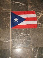 12x18 12x18 Wholesale Lot Of 3 Puerto Rico Rican Stick Flag Wood Staff