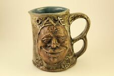 Vtg Rumph Grotesque Pottery Cross-Eyed Ogre Troll Inside Tankard Cup Mug Stein