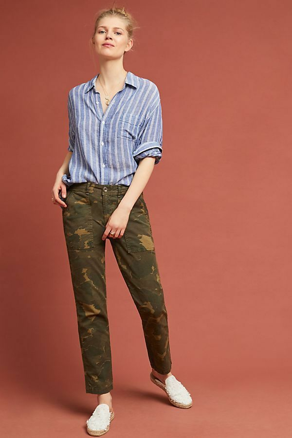 Anthropologie  Wanderer Camo Utility Pants size 32P new with tag