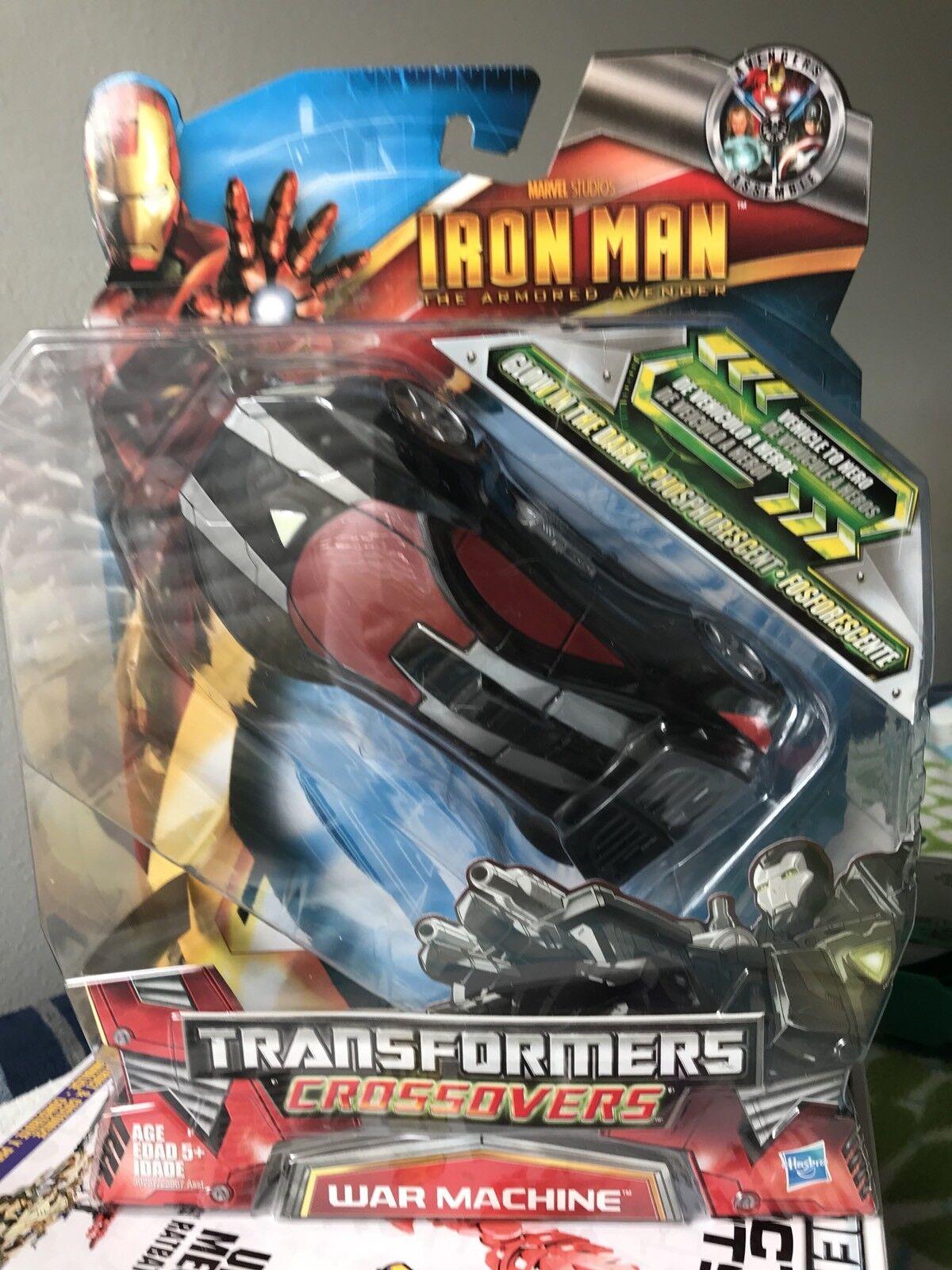 Crojovers Iron Man de Transformers máquina de guerra Menta en caja 100% Comp. rara Usa