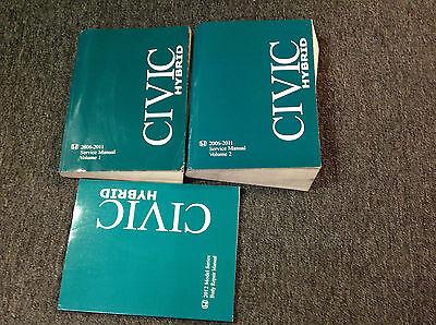 honda civic hybrid shop repair service manual set  ebay