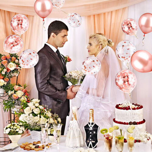 48er Set Hochzeit Luftballon Helium Latex Metallic Rosegold GeburtstagParty Deko