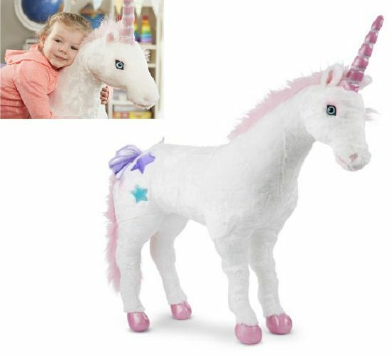 Giant Stuffed Animal Large Cuddly Unicorn Sturdy Stands Tall Mythical Magical