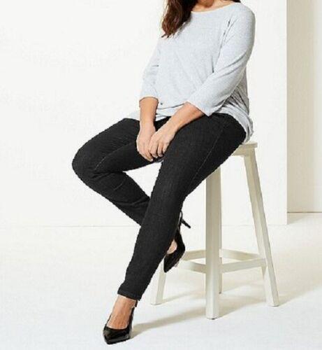CURVA Marks /& Spencer High Rise Super Skinny Leg Jeans Nuovi Taglie Forti