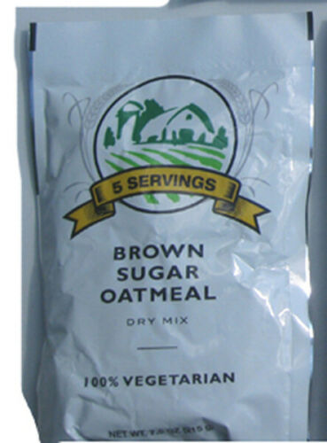 Emergency Survival Food BROWN SUGAR OATMEAL 5-Serving Pouch 100/% Vegetarian