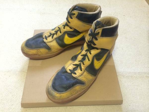 NIKE DUNK High Yellow Black Vintage Sneakers Sports shoes size US 15