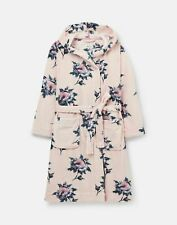 Joules Womens 213207 Fluffy Dressing Gown - Pink Floral