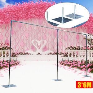 3mx6m Wedding Backdrop Stand Pipe Wedding Curtain Frame Telescopic Pole Us Stock Ebay