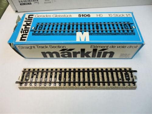Marklin ho 5106 straight track 10 sections   very nice!