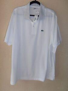 Rubber Xxl Polo Shirt 8 Lacoste Mens Crocodile Bnwt With White Size SqwRO8X