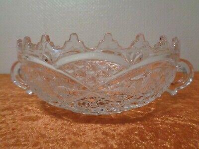 FäHig Bleikristall / Kristall Glas Schale Mit Griffen - Vintage - Um 1950/60 Duftendes (In) Aroma