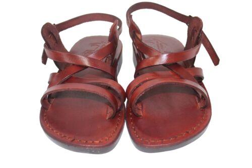 Braun Gladiator Sandalen Leder Sandale Flip-Flop Schuhe Größe 36-46
