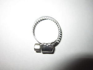 """TWO #6 MINI STAINLESS STEEL MARINE 1"""" HOSE CLAMPS ALL 300 STAINLESS STEEL"""