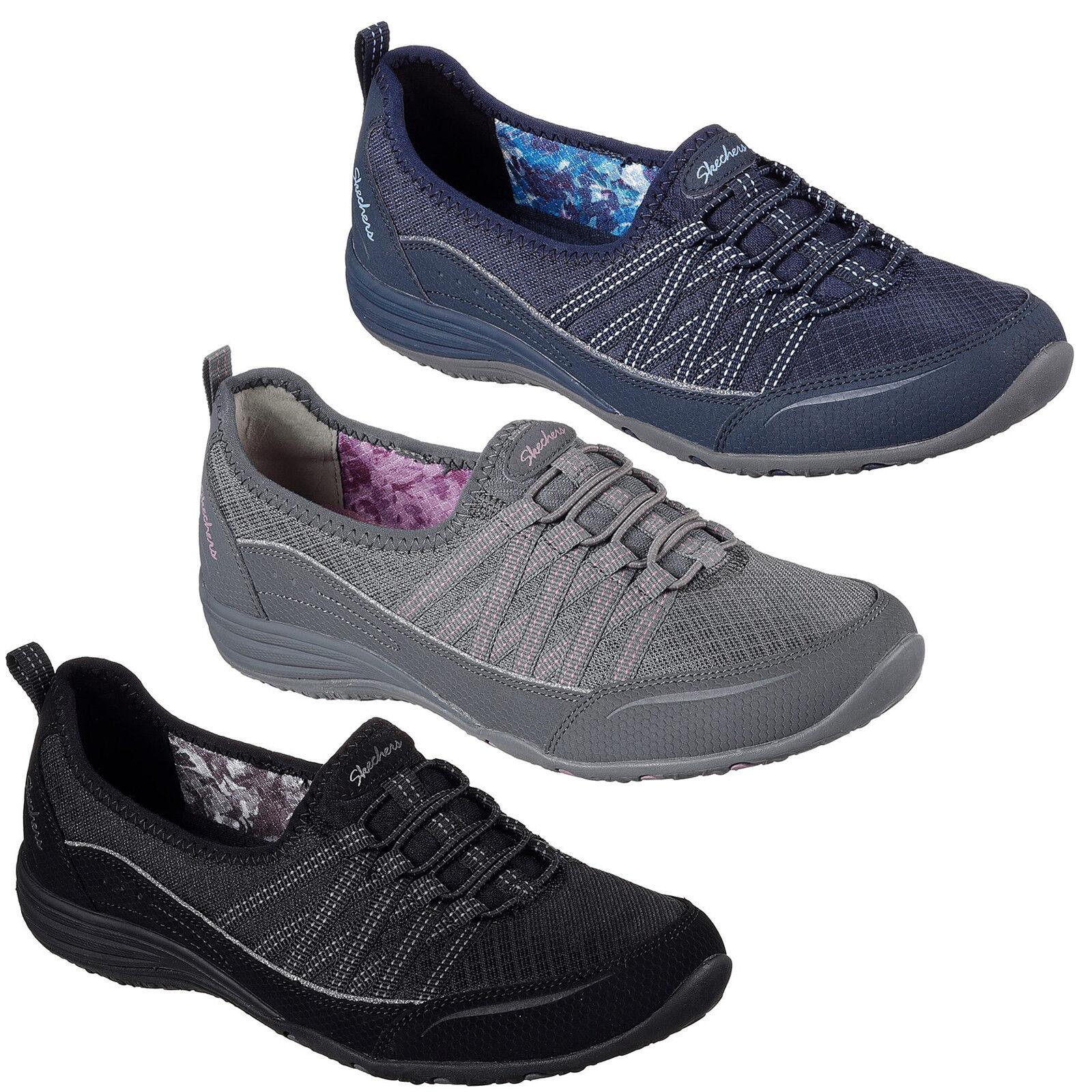 Skechers Unité GO BIG Femme Chaussures en mousse à mémoire Escarpins élastique Yoga Ballerines Escarpins mémoire 9c3885