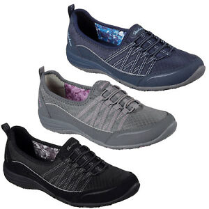 Details zu Skechers Unity Go Big Womens Shoes Memory Foam Elastic Yoga Flats Pumps