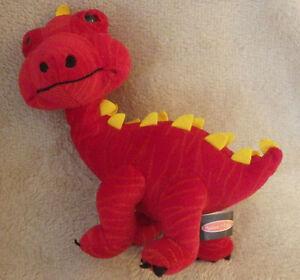 """Melissa & Doug Red Dinosaur Dino Plush Stuffed Animal Toy 10"""""""
