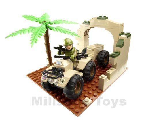 Character Building H.M Armed Forces  ARMY INFANTRYMAN /& QUAD BIKE Mini set NEW