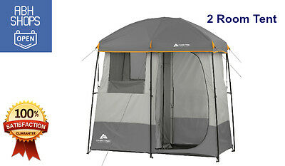 Portable Camping Shower 2 Room Tent Toilet Outdoor Changing Camp Privacy Shelter