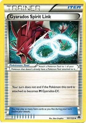 MINT XY BREAKpoint Pokemon GYARADOS SPIRIT LINK 101//122 Rev Holo