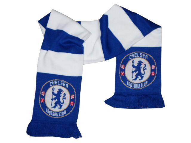 Chelsea London Fan Schal blau weiß CFC Fanartikel Premier League Scarf 150x18cm