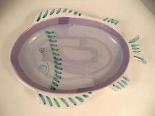 Caleca Italy pottery fish centerpiece bowl platter hand painted majolica Italia
