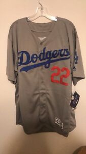 fadc9131253 Image is loading Clayton-Kershaw-Majestic-Flex-Base-Los-Angeles-Dodgers-