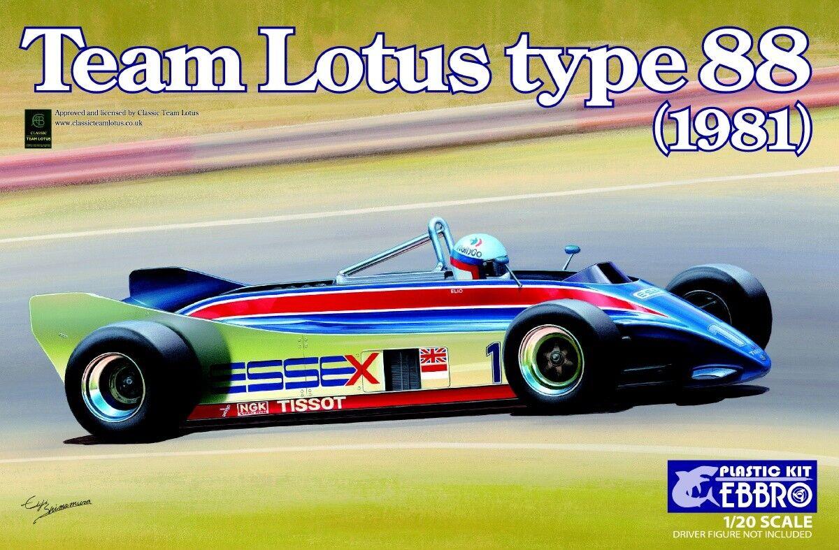 Ebbro 1 20 Team Lotus Type 88 1981