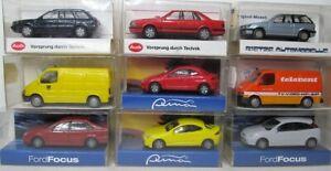 Rietze-1-87-audi-Ford-Puma-focus-Transit-mitsubishi-OVP-para-seleccionar-post