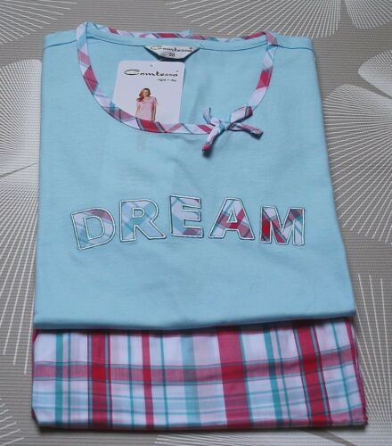 Hose Webware NEU Comtessa Young Fashion Pyjama Schlafanzug Oberteil Jersey