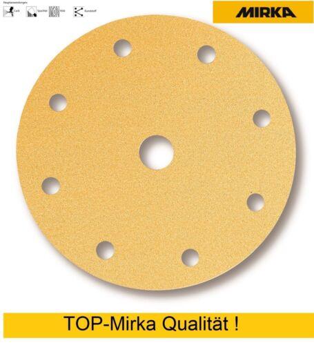 50 MIRKA Or velcro disques Meules 150 mm 9 fois perforées grain 40