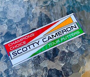 """Scotty Cameron NEW 2021 Gallery CHAMPIONS CHOICE Euro Racer Sticker """"Red/Green"""""""