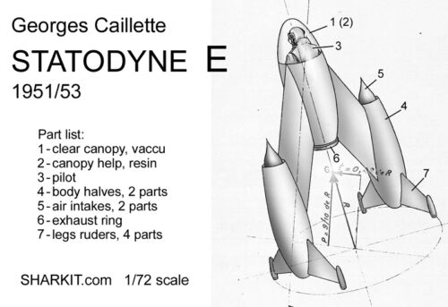 1//72 scale resin kit George Caillette STATODYNE E