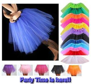 Image Is Loading Tutu Skirt Neon Ladies Girls Fancy Party Skirts