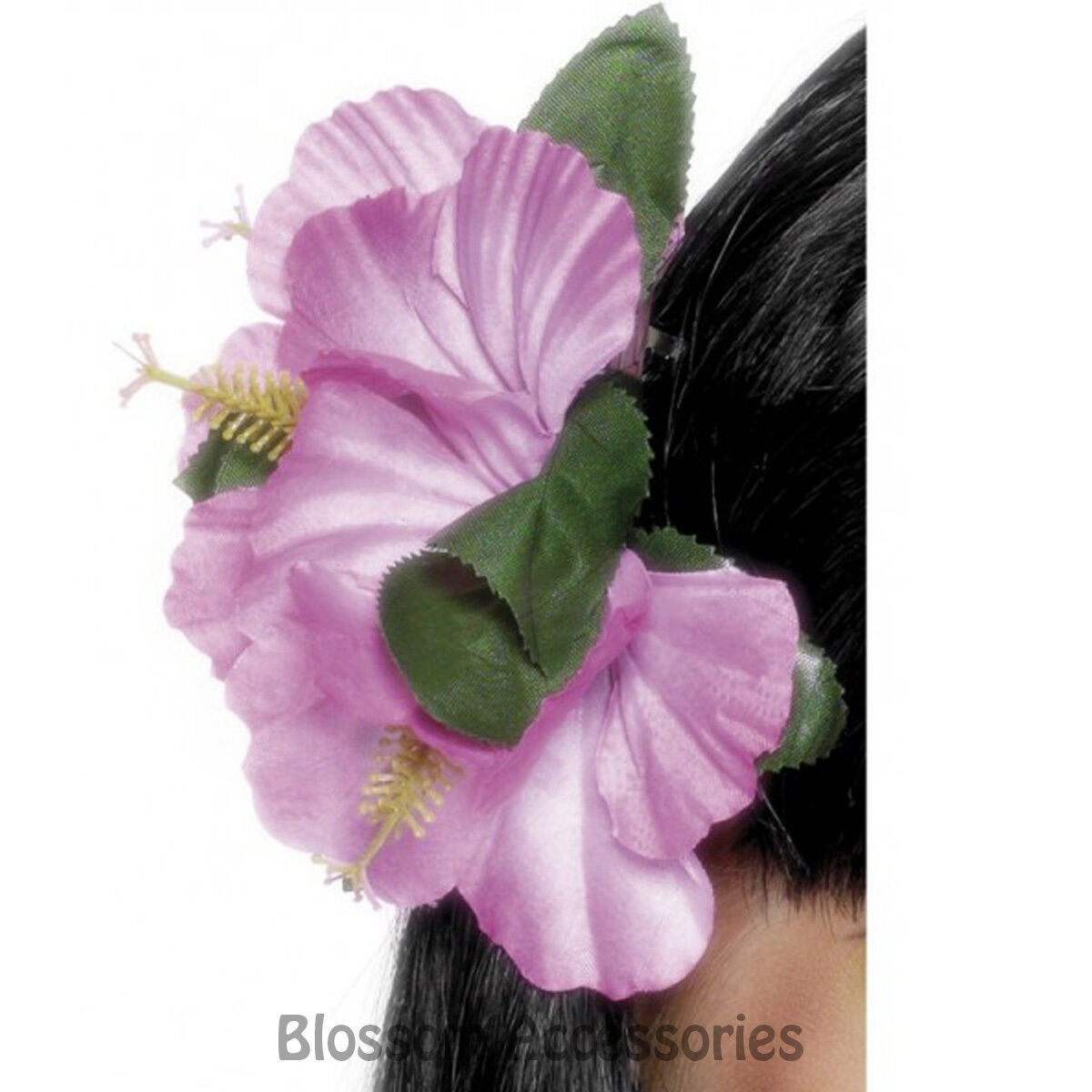 Other theatrical clothing costumes reenactment theater women a452 women pink hawaiian flower hair clip luau beach tropical costume accessory izmirmasajfo Image collections