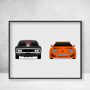 Fast and the Furious Dodge Charger and Toyota Supra MKIV Paul Walker
