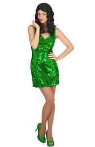 Deguisement-Femme-DISCO-Vert-M-L-40-42-Costume-Adulte-Annees-1980-NEUF-Pas-cher