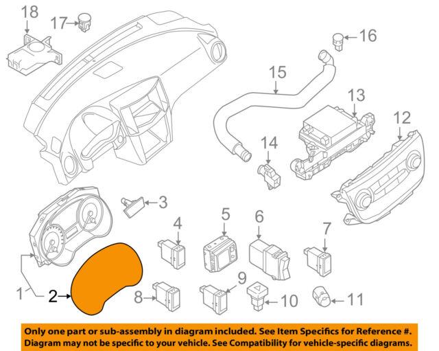 Genuine Nissan Cluster Lens 24813-3YU1A