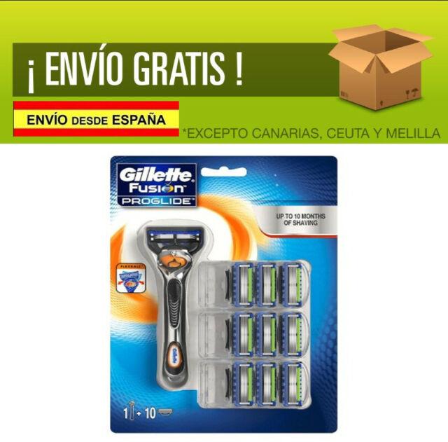Gillette Fusion ProGlide - Maquinilla de afeitar con FlexBall (10 recambios)