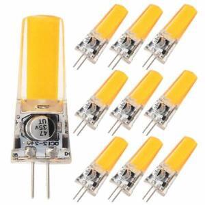 GRV G4 COB 4W 24V Cabinet LED Silicone Crystal 35W Halogen Track 10 Pack 6500K