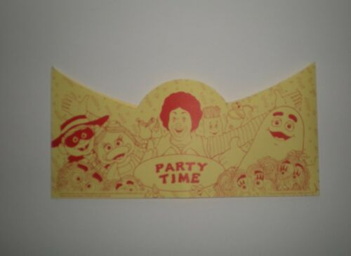 VERY HARD TO FIND 1990/'s Ronald McDonald and Friends Party Time Hat