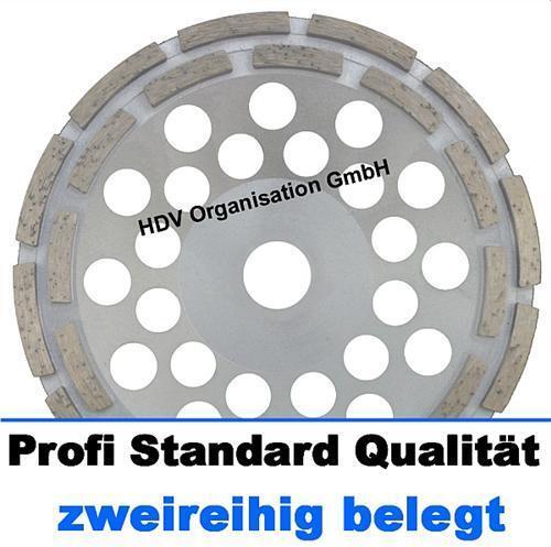 doppelt belegt 180 mm Diamant Schleiftopf Profi Standard