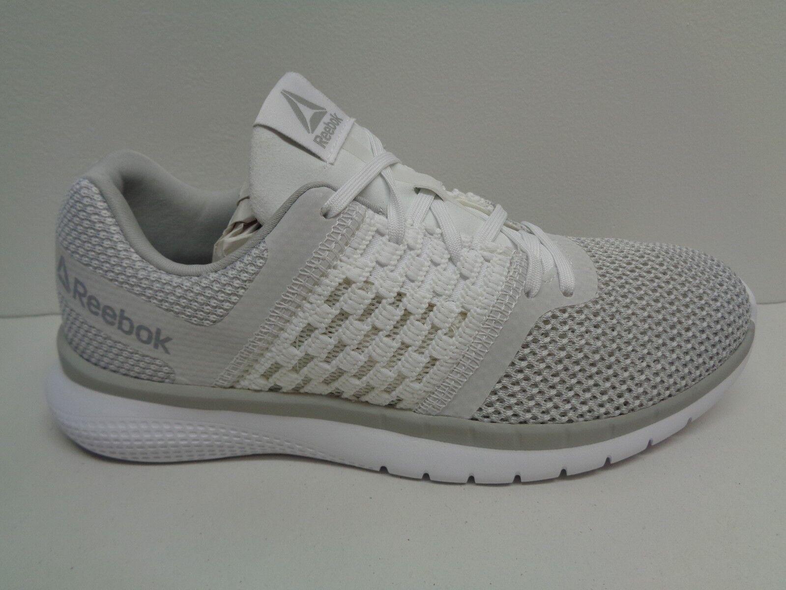 Reebok Size 8.5 M PT PRIME RUNNER White Steel Running Sneakers New Womens Shoes